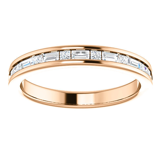 14k Rose Gold Diamond Stackable Wedding Band Texas Gold Connection