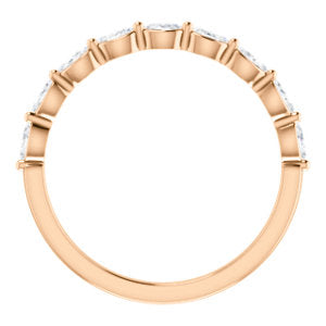 14K Rose Gold Diamond Stackable Wedding Band