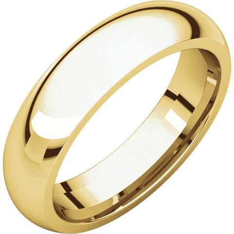 14K Yellow Gold 5mm Comfort Fit Band