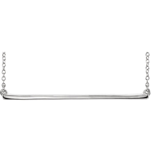 "14K Yellow Straight Bar 16-18"" Necklace"