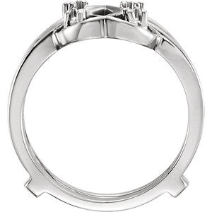 14K Ladies White Gold Ring Guard