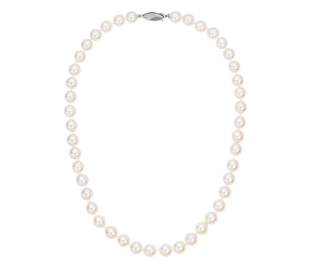 "18"" White Freshwater Pearl Necklace (AA)  8-8.5 mm"