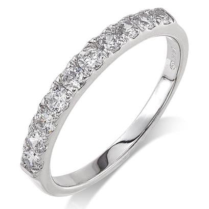 Camelot 14K White Gold Anniversary Band