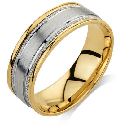 Engraved Wedding Ring in 14k Yellow Gold (7mm)