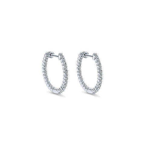 14k White Gold Classic Hoops (20mm)