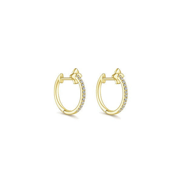 14k Yellow Gold Huggie Earrings (12mm)