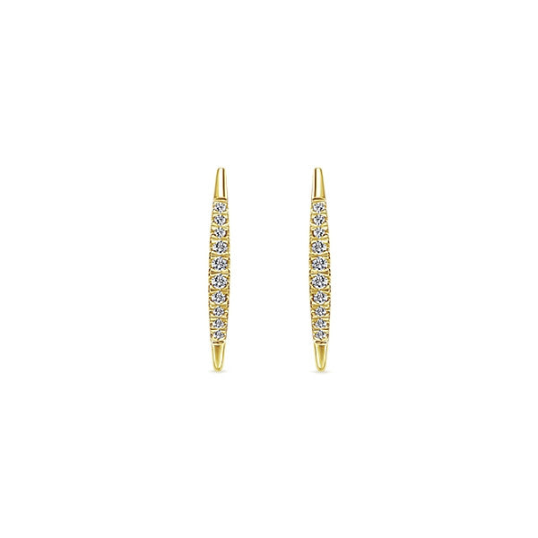 14k Yellow Gold Earcuff Earrings