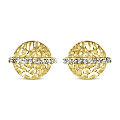 14k Yellow Gold Stud Earrings