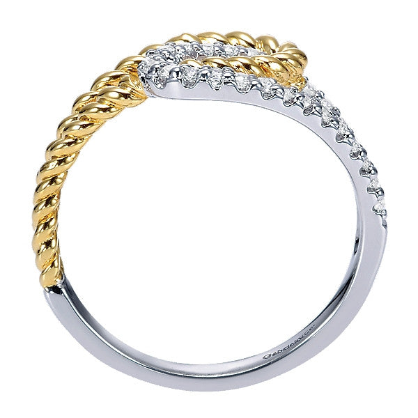 14k Yellow/White Gold Diamond Fashion Ring