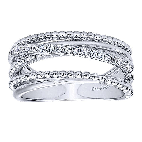925 Silver Wide Band  Ladies' Ring