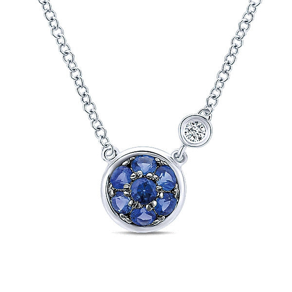 925 Silver Diamond Sapphire Fashion (Sept)