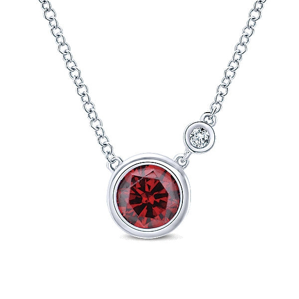 925 Silver Diamond Garnet Fashion (Jan)