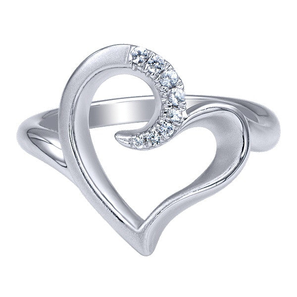 925 Silver Heart Fashion Ladies' Ring