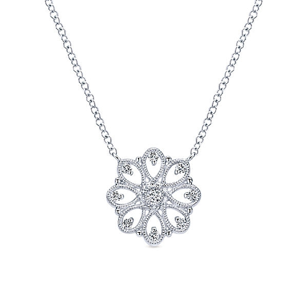 925 Silver Floral Necklace