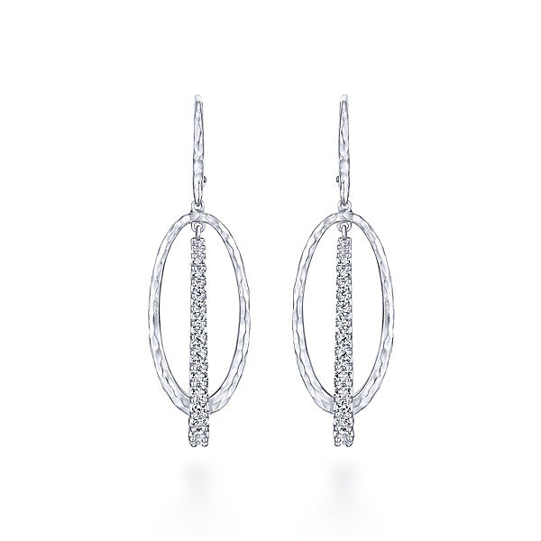 925 Silver White Sapphire Drop Earrings