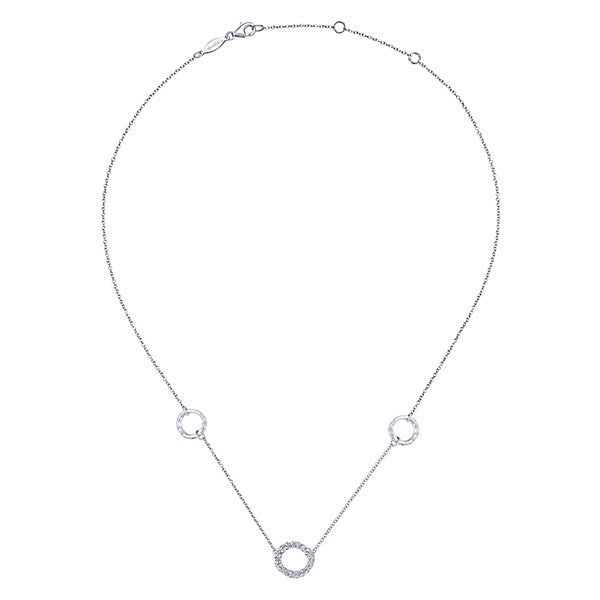 925 Silver White Sapphire Fashion Necklace