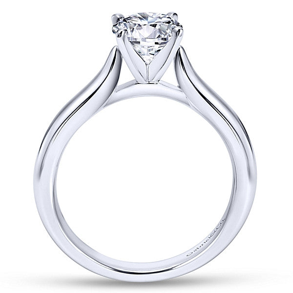 14k White Gold Round Solitaire- (semi-mount)
