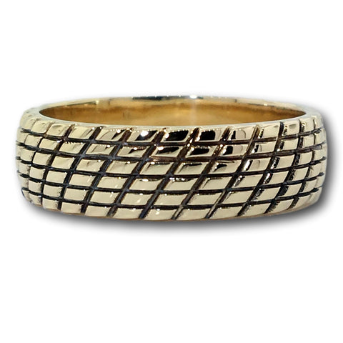 14K 6MM Mens Wedding Band