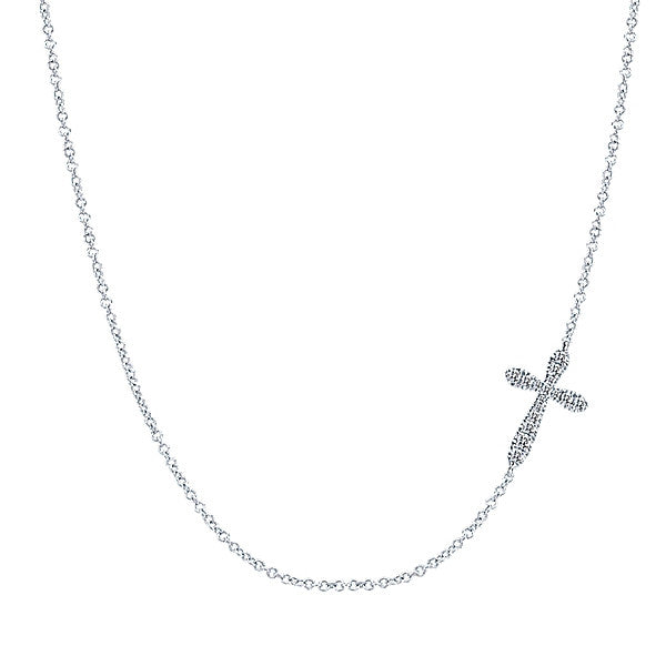 925 Silver Faith Cross Necklace