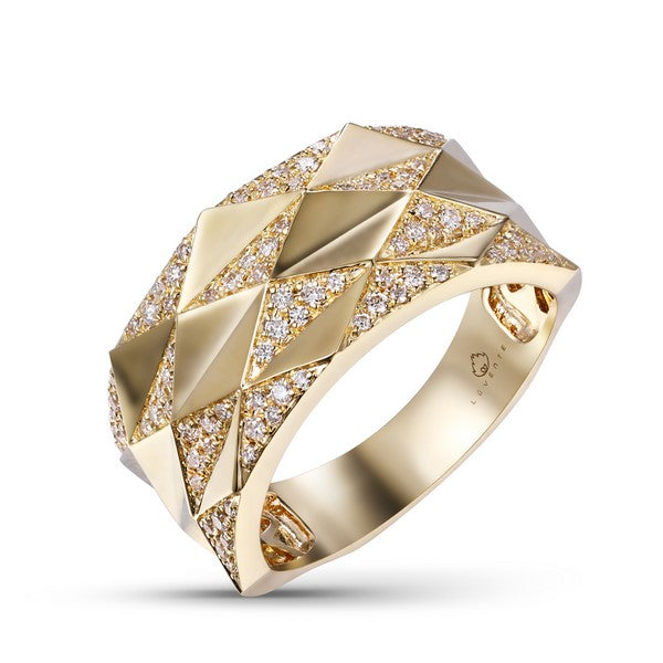 14k Yellow Gold Diamond Ladies' Fashion Ring