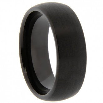 6mm Black Tungsten Ring with Matte Finish