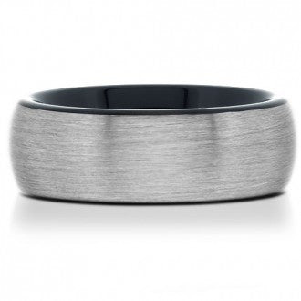 Brushed Tungsten Band with Black Plating