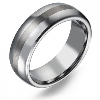 Titanium Ring with Satin and Polished Finish.