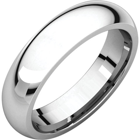 14K White 5mm Comfort Fit Band