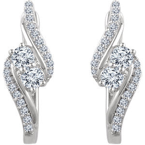 .60ct Be2gether Earrings