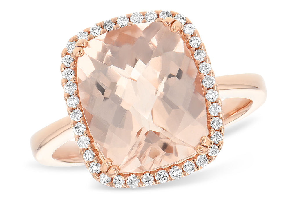 Ladies 14K Rose Gold Morganite Ring