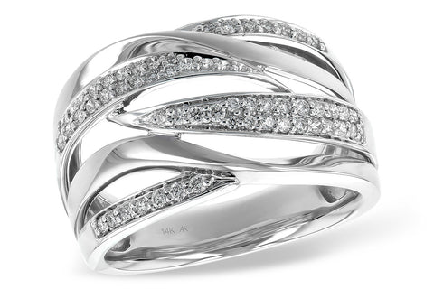 14K Ladies White Gold and Diamond Fashion Ring