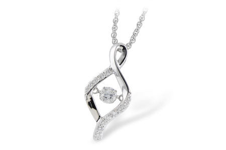 14k White Gold Diamond Ladies' Fashion Necklace