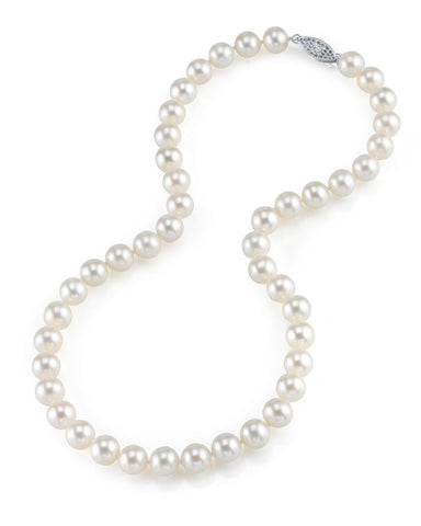 "18"" White Freshwater Pearl Necklace (AA)  6-6.5 mm"