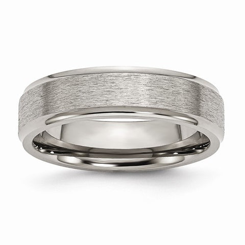 Mens Titanium Band with a Satin & Polished Finish