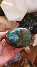 Load and play video in Gallery viewer, Labradorite Palm Stone from Madagascar
