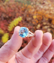 Load image into Gallery viewer, Size 7.5 Topaz and Sterling Silver Ring