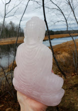 Load image into Gallery viewer, Rose Quartz Buddha Carving from India