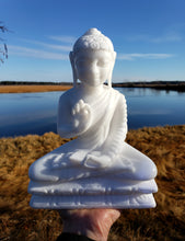 Load image into Gallery viewer, Marble Sitting Buddha Carving from India