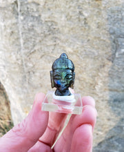 Load image into Gallery viewer, Labradorite Buddha Head Carving from India