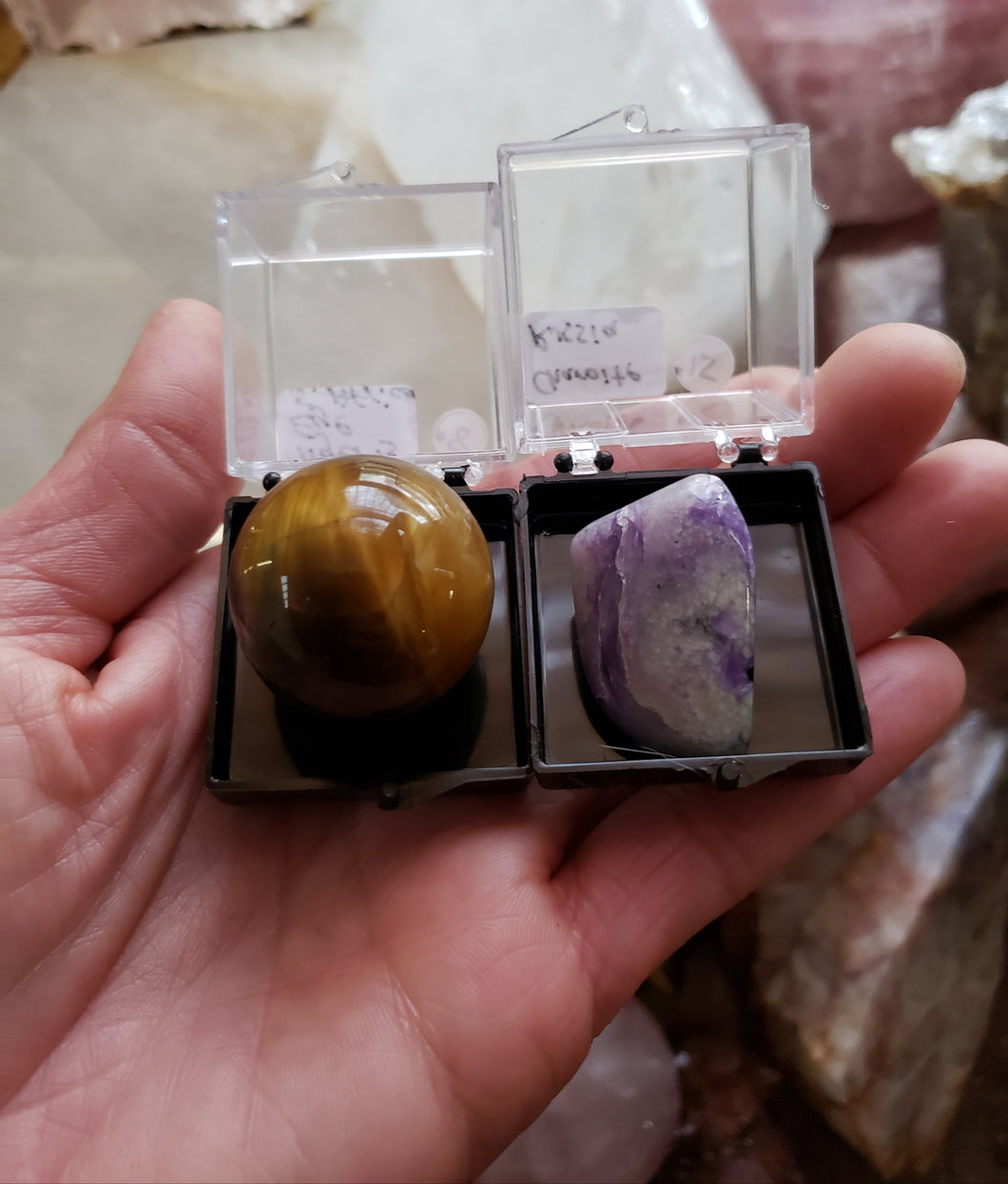 Perky Box Set - Charoite and Tiger's Eye Sphere