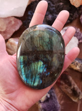 Load image into Gallery viewer, Labradorite Palm Stone from Madagascar