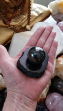 Load and play video in Gallery viewer, Shungite Sphere and Charging Plate Set