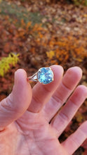 Load and play video in Gallery viewer, Size 7.5 Topaz and Sterling Silver Ring