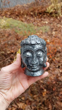 Load and play video in Gallery viewer, Hematite Buddha Head Carving from India