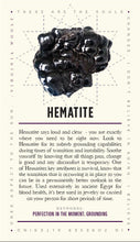 Load image into Gallery viewer, Hematite and Lavish Earth Crystal Affirmation Cards