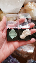 Load and play video in Gallery viewer, Perky Box Set - Fluorite Octahedron and Tiffany Stone