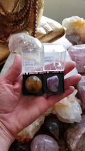 Load and play video in Gallery viewer, Perky Box Set - Charoite and Tiger's Eye Sphere