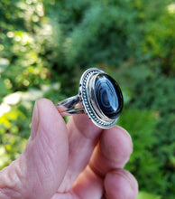 Load image into Gallery viewer, Size 8 Banded Agate and Sterling Ring