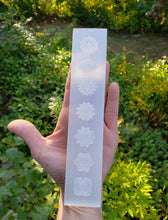 Load image into Gallery viewer, Selenite Charging Strip with Chakra Symbols