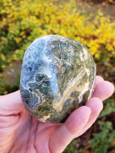 Load image into Gallery viewer, Big Polished Ocean Jasper Palm Stone from Madagascar